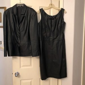 2PC Leather Suit by Newport News